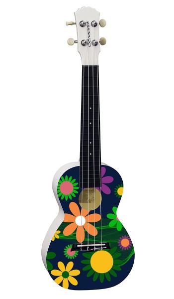 BU50CFL - Ukulele Concert ABS Flowers